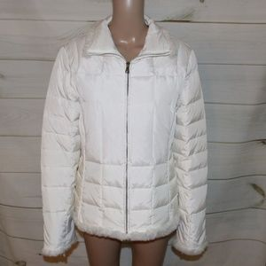 Marc New York Down White Fur Trim Puffer Jacket